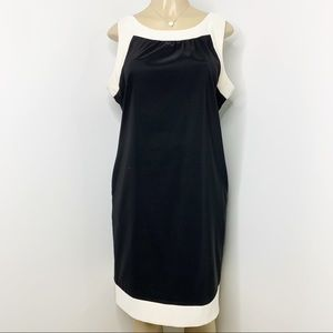 AGB Black & Off White Sleeveless Dress Pockets 16